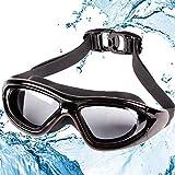 Gafas de Natación, Gafas Piscina Anti-Vaho Impermeable Anti-UV Polarizada, Correa Ajustable Comodidad, Gafas para Nadar para Adulto Hombre Mujer y Niños, Gafas de Natación Profesional Anti-vaho