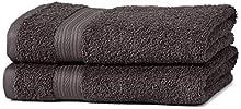 Amazon Basics AB Fade Resitant, 100% Algodón, Negro, 2 toallas de manos