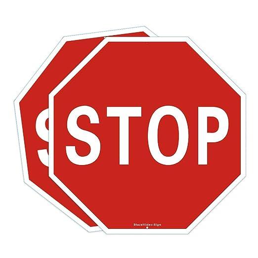 250 opinioni per BlazeVideo 2 segnali di stop, segnaletica stradale, segnaletica stradale, avviso