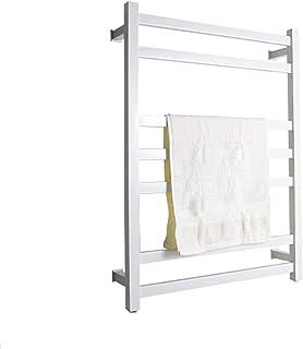 浴室用電気加熱タオルラックタオルウォーマー壁掛けタオルウォーマーラック304ステンレス鋼加熱タオルレール(色:白、サイズ:プラグイン) FAQUAN