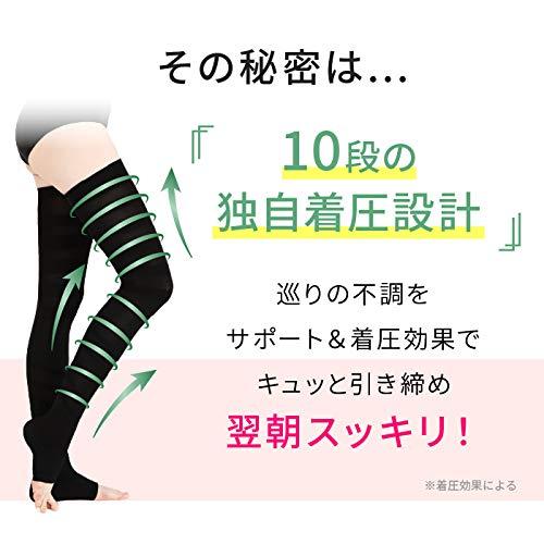 ベルスリープBELLESLEEPベルスキニー着圧ソックスソックスタイプ骨盤矯正脚痩せむくみ美脚ソックス(M)