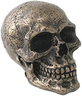 TLT 3 Inch Cold Cast Bronze Finish Standard Car Skull Shift Knob