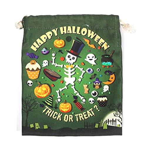 LQH Bolso de Halloween con cordón Bolso de la chuchería de Caramelo Bolsa de Regalo for la decoración de Fiesta de Halloween (Size : D)