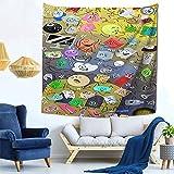 YeeATZ Battle for Bfdi Tapestry - Tapiz de pared, diseño de anime, decoración de pared para dormitorio o salón