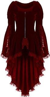 LRWEY Women Vintage Long-Sleeved Waist Back Bandage Lace