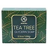 Hidratante Jabón de Árbol de Té para Cuidado del Cuerpo, Cara & Manos - Jabón Suave Árbol de Té 100g para Todo Tipo de Pieles - Tea Tree Oil Soap