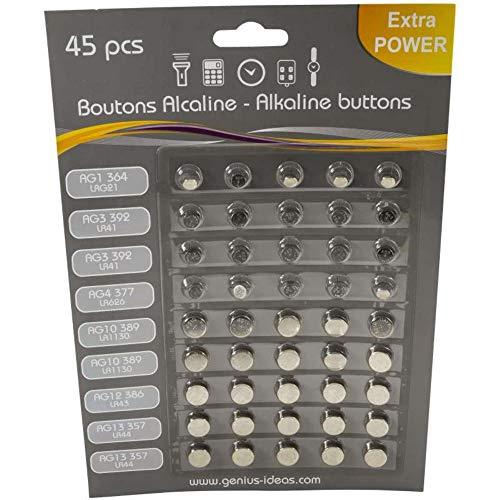 45 pile a bottone per orologio e apparecchi acustici