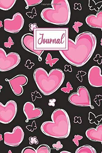 """Love Heart Journal: Notebook, Composition Book, College Ruled, Lined, 6x9"""""""
