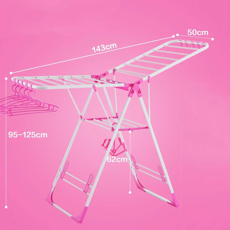 DYR Clotheshorse, Folding Clothesline for Balconies Basket for Babies Diaper Clothes-Rack-E