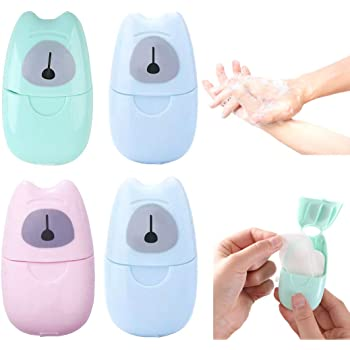 Portable Paper Hand Soap Sheets - Travel Size Disposable Tablets for Washing For Camping, Traveling, Hiking by PureNekko