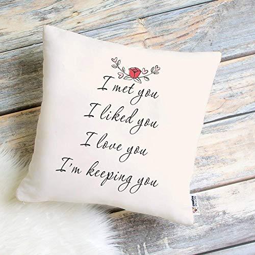 Regalo per fidanzato regalo di compleanno per coppie che vivono a parte, regalo per lei, federa regalo per relazioni a lunga distanza