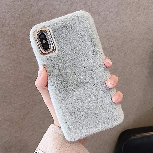 King phone Plüsch Hülle für Wiko Sunny 4 / Y50 Handyhülle Niedlich Weich Faux Pelz Schutzhülle Winter Warm Flauschig Silikonhülle Glitzer Stoßfest Cover - Grün