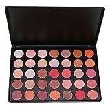 SEPROFE 35 Natural Cálido Colores Sombra de Ojos Paleta Impermeable Smoky Cálido Mate Shimmer Eye Shadow Kit de Maquillaje