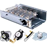 [NEW UPGRADED] 279838 Dryer Heating Element 3387134 3977767 Thermostat 3392519 3977393 Thermal Fuse COMPLETE Dryer Repair Kit Replacement by Blue Stars - Exact Fit for Whirlpool Kenmore Maytag Dryers
