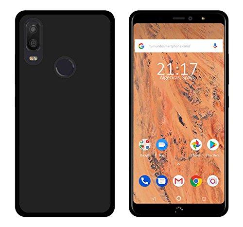 Tumundosmartphone Funda Gel TPU para BQ AQUARIS X2/X2 Pro Color Negra