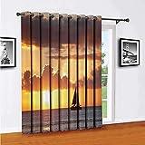 Toopeek Barco en Sewith Sunset cortinas correderas de puerta, cortinas de patio,...