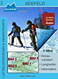 Luftbildpanorama & Wanderkarte Winter-Wanderkarte von Seefeld