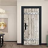 3D visuelle Tür Aufkleber Home Decoration Wallpaper