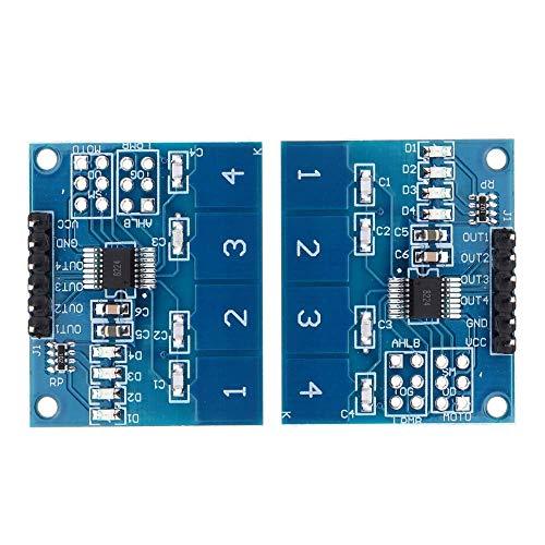 BXU-BG 2 Piezas de TTP224 4CH Canal táctil capacitiva del Interruptor del módulo del Sensor táctil Digital