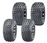 Set 4 ATV Go Kart Tires 145/70-6 145x70x6 & 16x8-7 16x8x7 Knobby 4PR