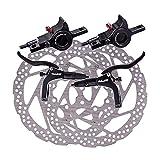 perfeclan Bicicleta de Montaña Hidráulico Freno, MTB Freno de Hidráulico Pinzas Traseras Delanteras, Juego de Frenos Hidráulicos Buena Velocidad de Reacción - Negro con Disco
