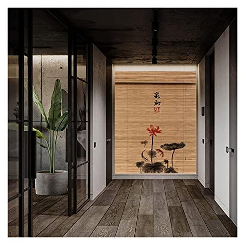 QIANDA Apagón Persiana De Bambú,Dividir Persianas Enrollables Aislamiento Térmico Protección UV por Oficina Sala Estar Casa, Fácil De Instalar (Color : A, Size : 150x175cm)