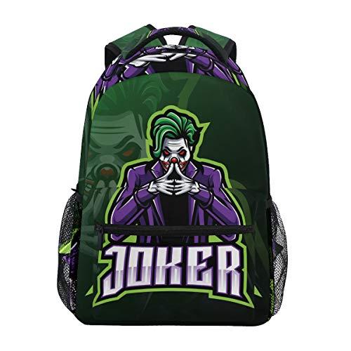 Cute Sugar Joker Backpack Bookbag for Boy Girl Large Travel Laptop Shoulder Bag for Women Men