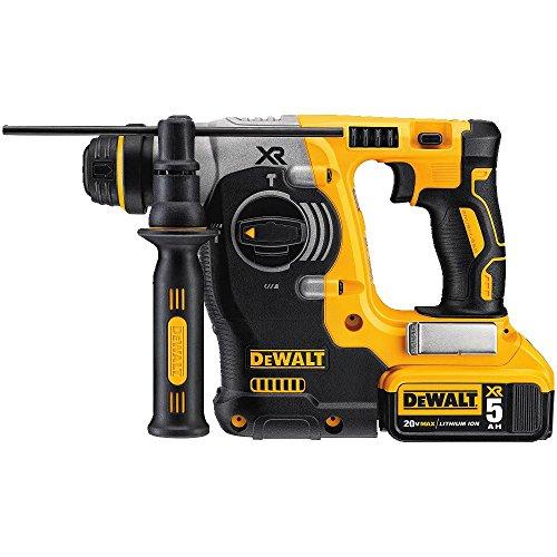 DEWALT 20V MAX SDS Rotary Hammer Drill Kit, 5-Ah Batteries (DCH273P2)