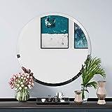 KOHROS Espejo de Pared Biselado Pulido sin Marco Redondo para baño, tocador, Dormitorio (24' x 24' Redondo)
