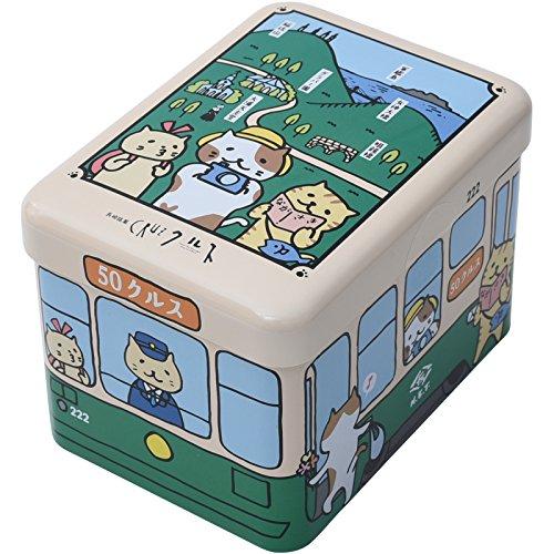小浜食糧 長崎銘菓 クルス 尾曲猫電車缶 10枚入