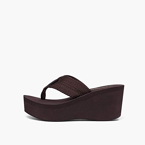 MKHDD MKHDD MKHDD Frauen High Wedge Plattform Flip Flop Sandale Sommer Offene Zehen Tanga Strand Sandalen Chunky  klassische Mode