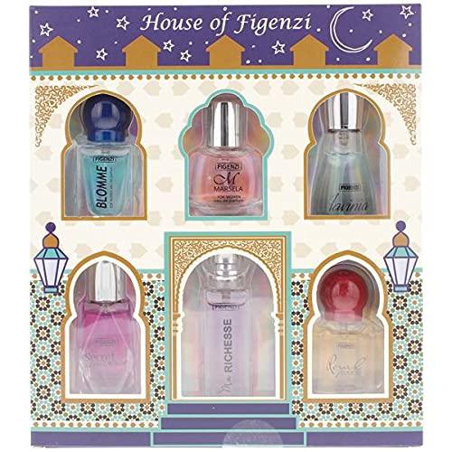 PARFUM GESCHENK SET HOUSE OF FIGENZI 6x15ml Eau de Parfum DUFT