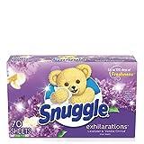 Snuggle Exhilarations Fabric Softener Dryer Sheets,...