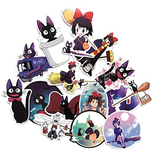BLOUR Japan Anime Girls Kiki's Delivery Service Adesivi per Custodia per Telefono Pad Laptop Car Skateboard Helmet Bicycle Suitcase 15 Pz/Set