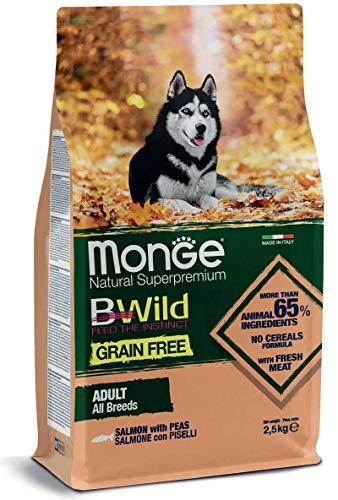 Monge Cane CROCCHETTA BWILD Grain Free all Breeds Adulto con Salmone E Piselli 12 kg.