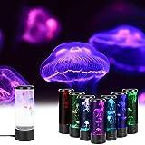 Lampara Medusa, MOPOIN LED de Medusas Lámpara de Humor de Acuario, 7 Colores, Lámpara de Lava con USB para Dormitorio de Niños Regalo de Cumpleaños de Navidad