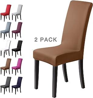 comprar comparacion BalladHome®Fundas para sillas Pack de 4 Fundas sillas Comedor Fundas elásticas, Cubiertas para sillas,bielástico Extraíble...