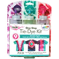 Tulip One-Step Tie-Dye Paradise Punch 3 Color Kit, Easy Techniques & Fabric Designs Tie Dye