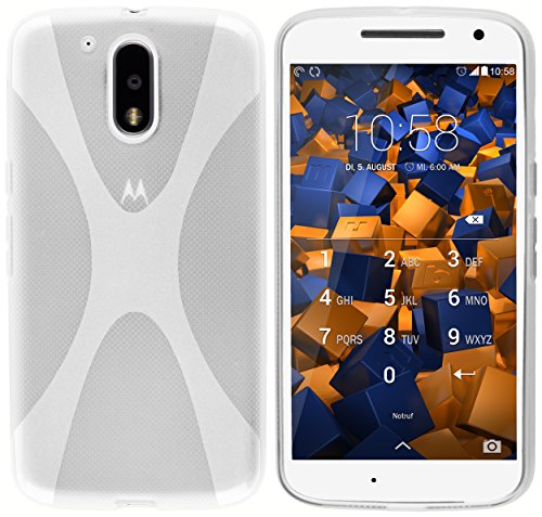 mumbi Hülle kompatibel mit Lenovo Moto G4 / G4 Plus Handy Case Handyhülle, transparent Weiss