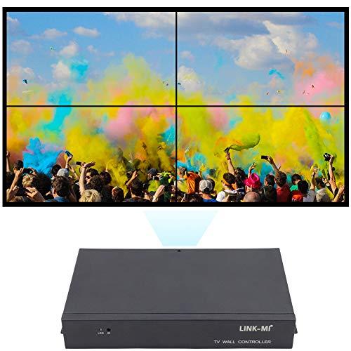 LINK-MI TV04 2x2 Video Wall Controller USB+HDMI+VGA+AV Input, TV HDMI Out, Fully-Digital Processing Channel Inside 180 Degree, HD LCD Splicing Screen Seamless led TV Wall Display 1x3 1x4 2x1 1x2