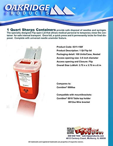 buy  1 Quart Size (Pack of 3)   Oakridge Products ... Diabetes Care