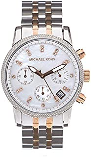 Michael Kors Runway Women's Mother of Pearl Dial Stainless Steel Band Watch - MK5525