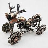 LXGANG Decoración de Ampliación de hierro forjado de cuatro ruedas Beach Modelo de la motocicleta Creación Artesanal decoración del hogar del regalo de cumpleaños 20 * 9.5 * 14cm elegante y hermosa