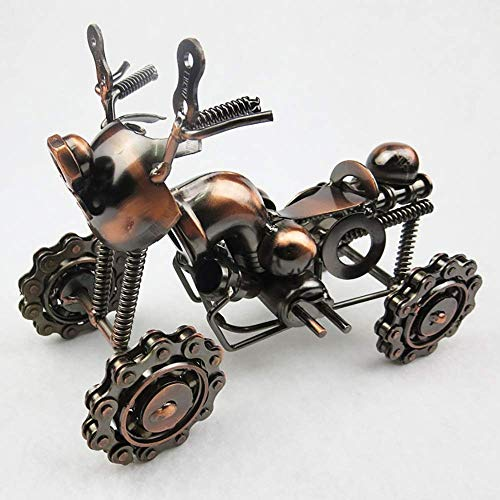 Tokyia Large Wrought Iron Four-wheeled Beach Motorcycle Model Creative Crafts Home Decoration Birthday Gift 20 * 9.5 * 14cm Stylish and beautiful Home Decorations