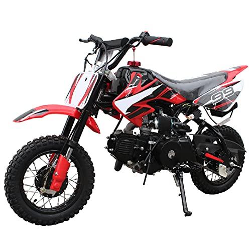 110cc Dirt Bike Pit Bike Mini Gas Dirt Bike Kids Youth Dirt Bike Pit Bike 110cc Gas Dirt Pitbike ,Red