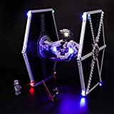 BRIKSMAX Led Lighting Kit for Star Wars Imperial TIE Fighter - Compatible with Lego 75211 Building Blocks Model- Not Include The Lego Set
