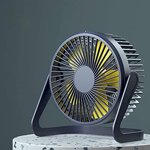Ventilador de escritorio, ventilador de escritorio USB de 5/6/8 pulgadas con interruptor, ventilador de enfriamiento de 2 engranajes para escritorio de oficina en casa