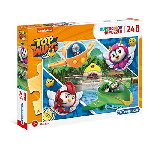 Clementoni - 28514 - Supercolor Puzzle - Top Wing - 24 Maxi Pezzi - Made In Italy - Puzzle Bambini 3 Anni +