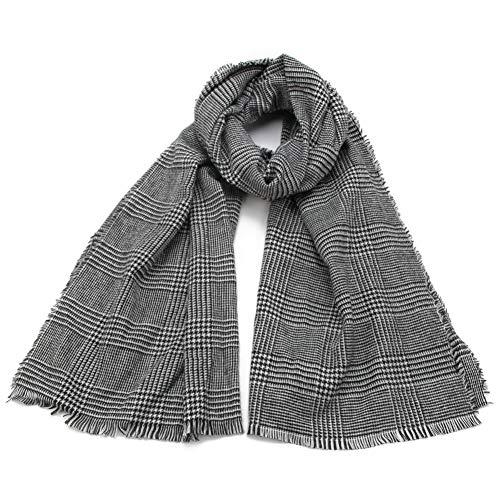 MYTJG Lady sjaal herfst winter zwart wit plaid blanket sjaal warm comfortabele warme vrouwensjaal