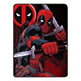 Marvel's Deadpool, 'Swordsman' Micro Raschel Throw Blanket, 46' x 60', Multi Color
